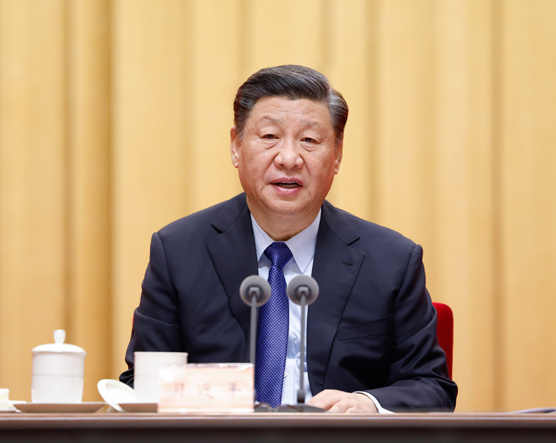 2月20日,党史学习教育动员大会在北京召开。中共中央总书记、国家主席、中央军委主席习近平出席会议并发表重要讲话。新华社记者 黄敬文 摄